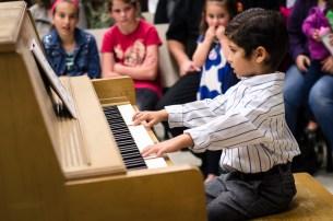"5-year old Aidan playing ""Singing Donkey"""