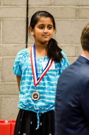 "Tanvi and her bronze medal in Speech. ""I - WANT - MY - APPLE JUICE!"""