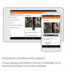 Moodle Mobile App Screenshot