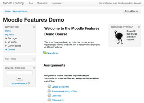 Clean Theme: Default from Moodle 2.7 and beyond.