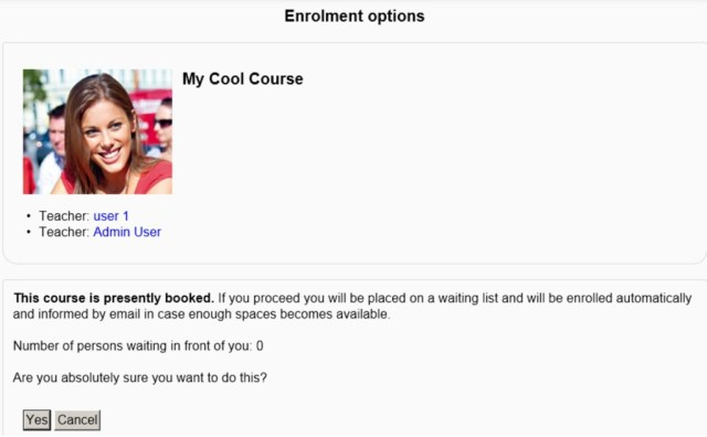 waitlist enrollment moodle plugin