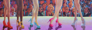 Pageant 2013, acrylic on canvas 2x6ft