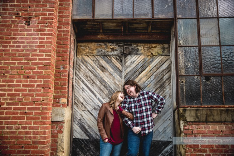 jenna and patrick's clipper mill engagement session