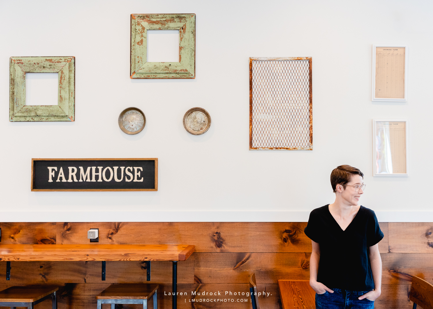 blair's personal branding session at Farmhouse Coffee in Downingtown, PA