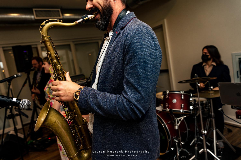 saxophone player wedding band