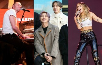 Coldplay、BTS、Miley Cyrus