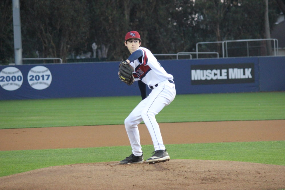 Nick Frasso (16) pitching