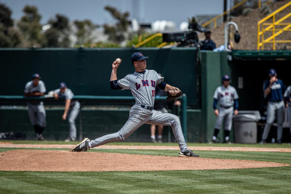LMU baseball pitcher