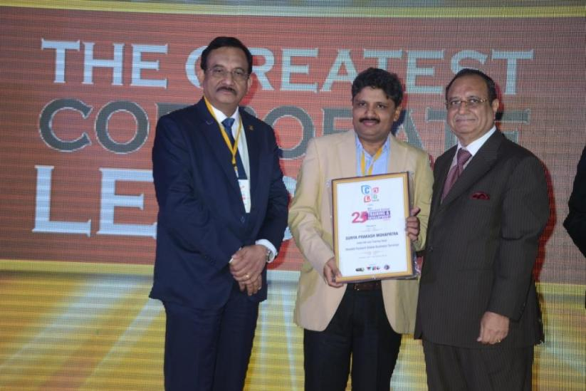 Surya Prakash Mohapatra, Founder L&D Group receiving the 25th Most Talented Global Training and Development Leaders Award in Mumbai in February 2014