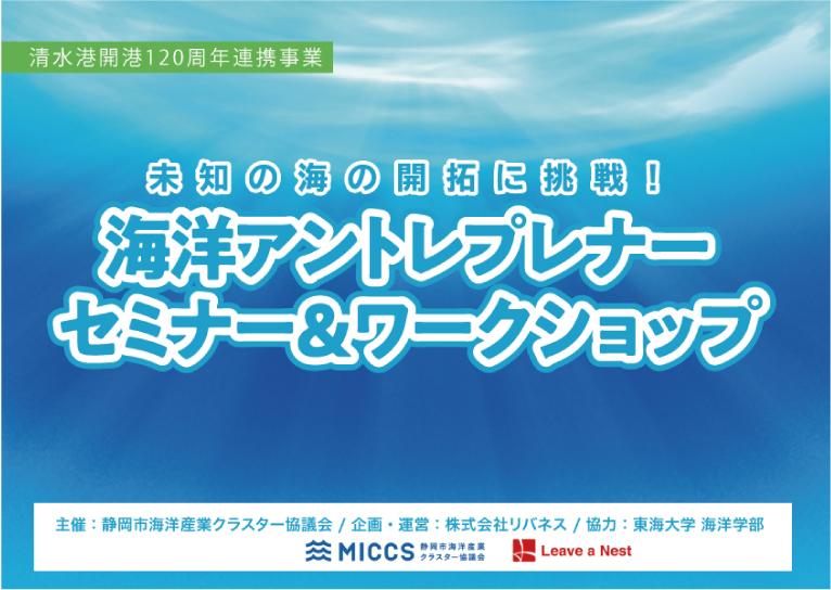 静岡市で若者向け海洋アントレプレナーワークショップを開催します