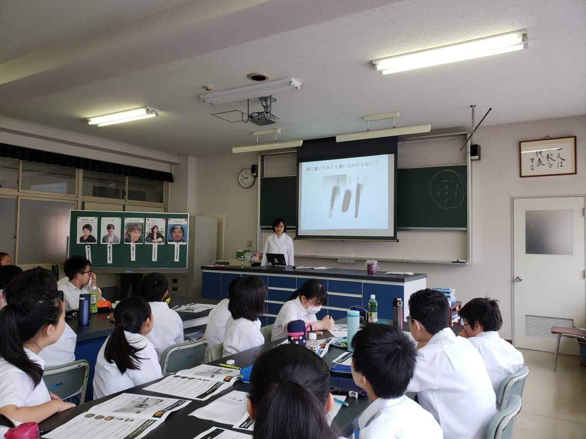 【7/25(木)】宇都宮短期大学附属中学校にて出前実験教室を実施しました
