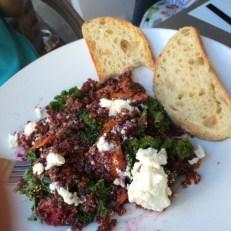 Salade de kal, Fete, betterave