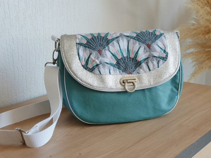 besace jacquard turquoise Augustin