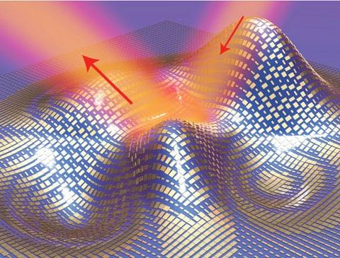 הדמיה של גלימת הננואנטנות. צילום באדיבות Xiang Zhang group, Berkeley Lab/UC Berkeley