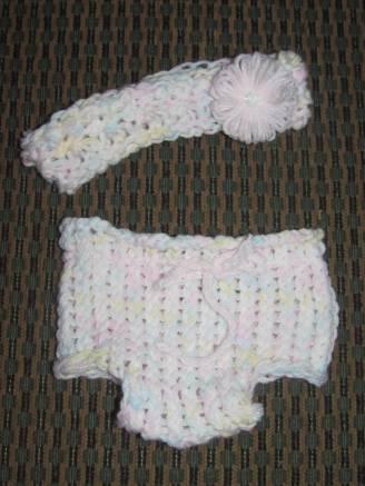 Matching Headband & Diaper Cover