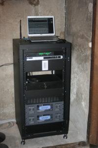 Rack Audio per chiesa posizionato in Sacrestia