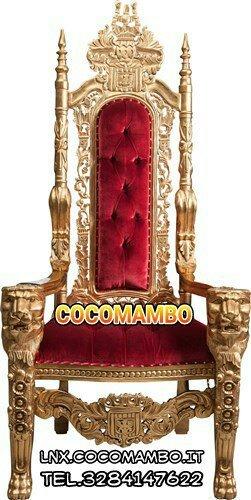 Trono reale imperiale noleggio