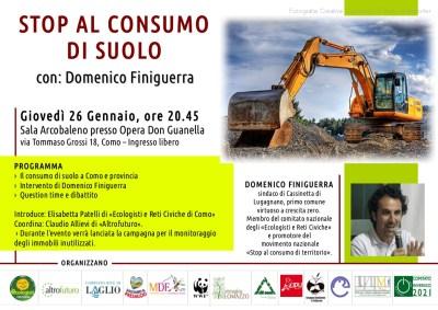 Stop al consumo del suolo, giovedì 26 gennaio 2012 h 20,45 a Como