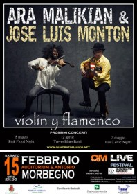 la locandina di Ara Malikian e Josè Luis Monton in concerto a Morbegno