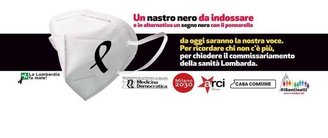 un nastro nero <br>per la gestione Sanità in Lombardia</br>