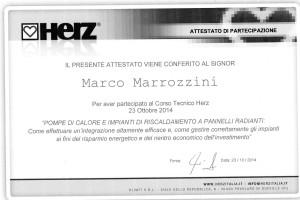 Attestato partecipazione al Corso HERZ_23_10_14