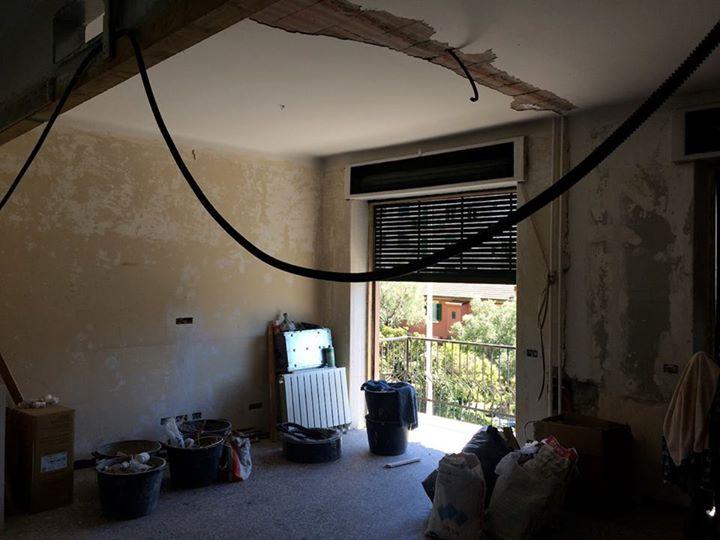 Genova-Nervi sono cominciati i lavori di ristrutturazione di un appartamento