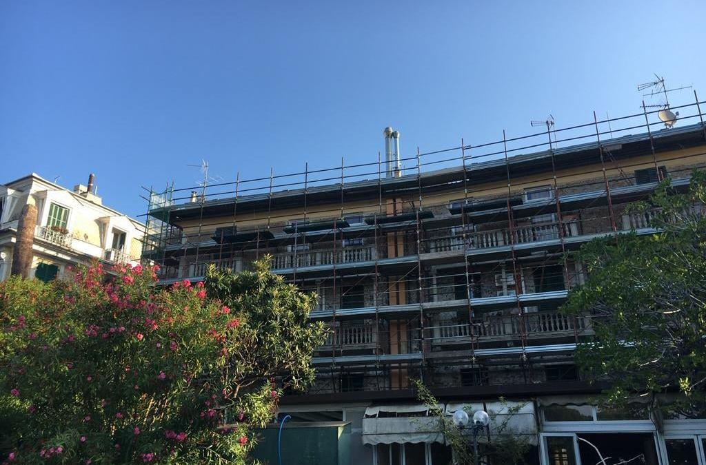 Risanamento e conservazione delle facciate Genova Capolungo.  #architecture #ren…