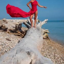 ritratto donna in abito rosso 3