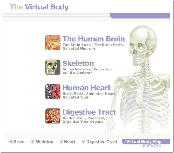 Corpo Virtuale interattivo con gioco