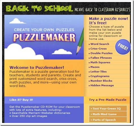 Puzzle Maker Discovery Education