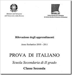 Prove Invalsi secondaria di II grado 2011