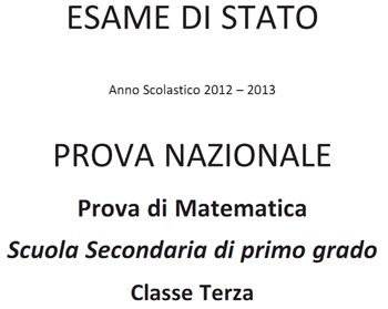 Soluzioni Prova Nazionale Invalsi di matematica 2013