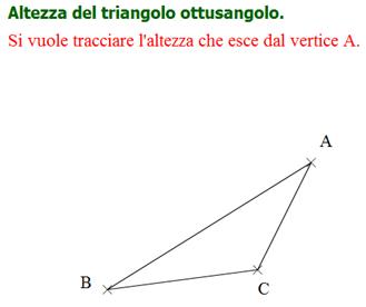 Come tracciare l'altezza di un triangolo ottusangolo