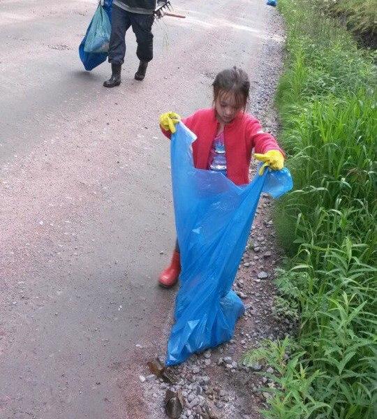 Российский мусор убирали швейцарцы и нигерийцы