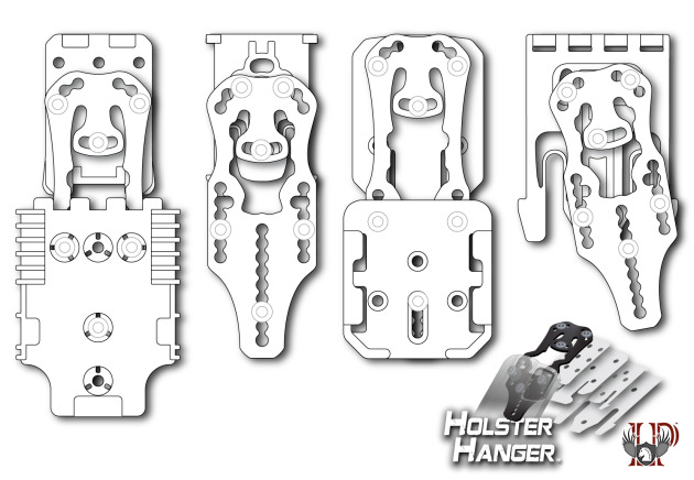 Holster Hanger Configurations