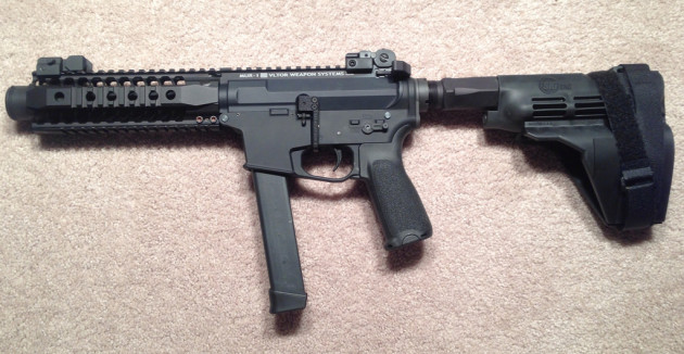 9mm AR pistol with a Sig arm brace