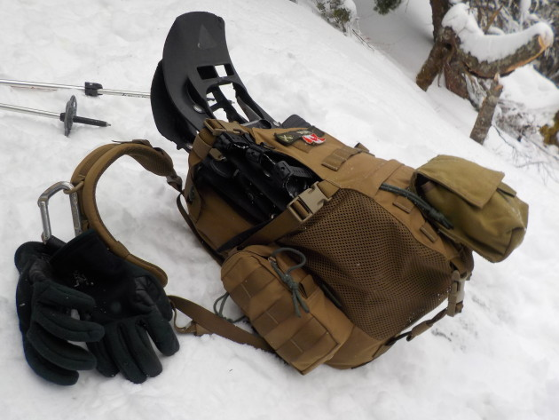 WAS helmet pack with day hike kit