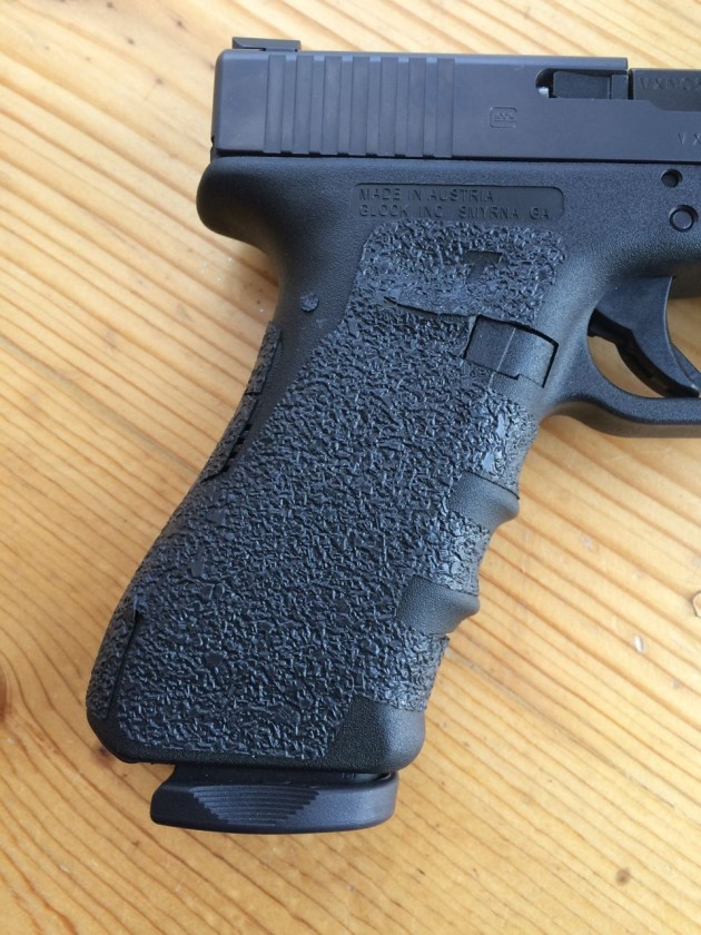 Talon Grips right side of Glock 17