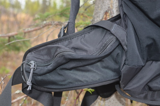REI Trail 40 Backpack: First Impressions View of hip belt storage