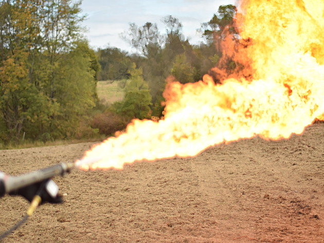 The X15 Personal Flamethrower In Action
