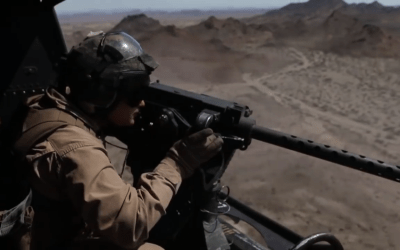 Watch: UH-1Y Door Gunners conduct aerial gunnery