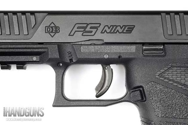 The FS Nine has all the features shooters have come to expect from a striker-fired pistol. The slide stop and mag release are well-located and function like they should, and the gun features a squared-off trigger guard.