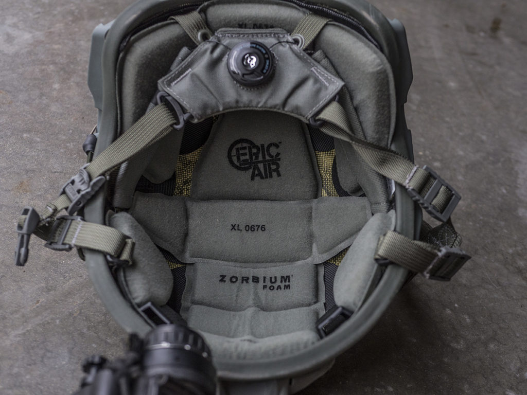 The lightest ballistic helmet on the market   the Delta X from Safariland Group
