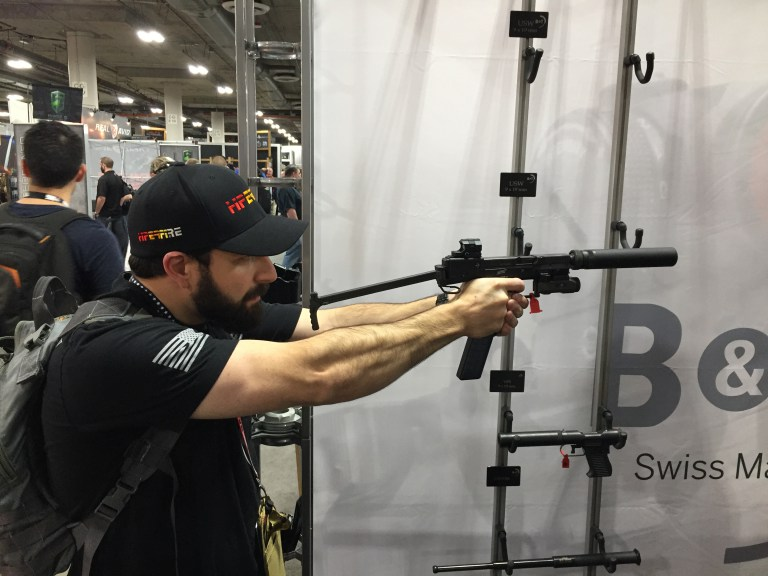 Shot Show 2017 Product Spotlight: Brugger and Thomet Universal Service Weapon with Aimpoint Nano