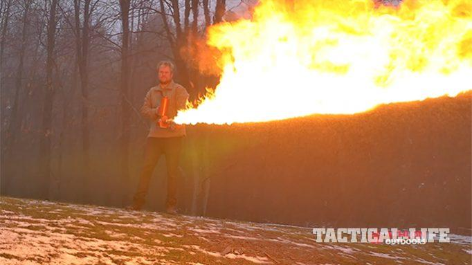 WATCH: The Absolutely Awesome XM42 Flamethrower in Action