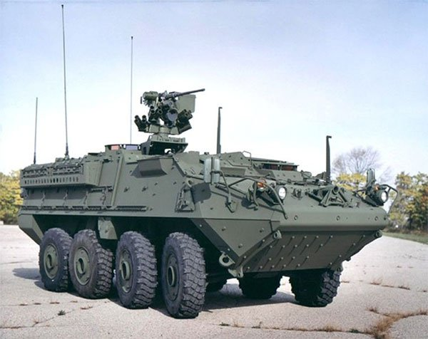 US Army Stryker Vehicles Demo Laser Weapons