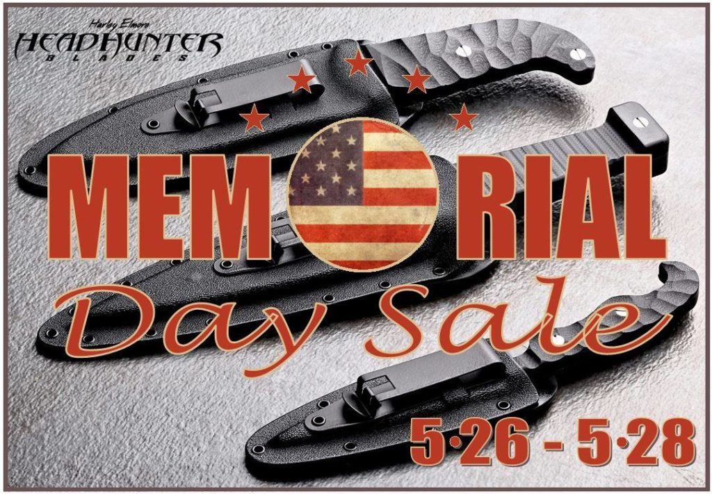 Memorial Day Sale! HeadHunter Blades Fixed Blade Training Packages