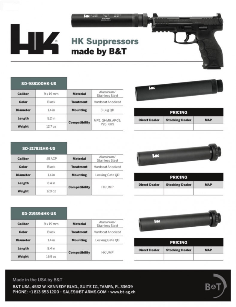 HK, B&T USA Team to Release HK Suppressors for US Market