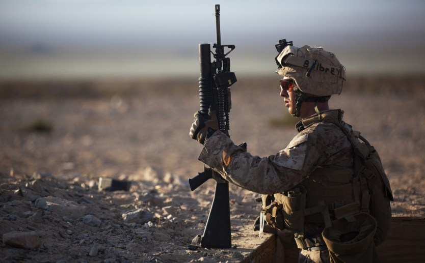 Loadout Room photo of the day | Striking at sunrise: 3/3 Kilo Marines perform platoon attacks during Enhanced Mojave Viper exercise