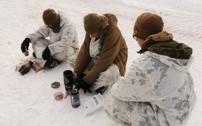 Loadout Room photo of the day: Marines eat out cold-weather-style during training at Fort McCoy